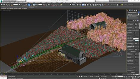 Clusters Render, Forest Pack