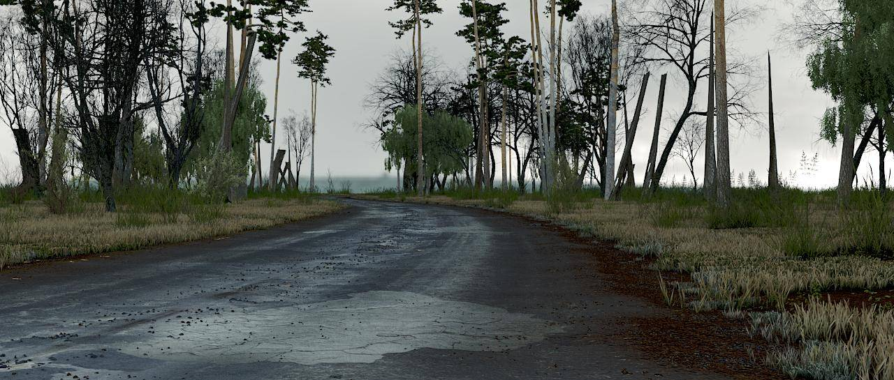 Blur: Creating Parametric environments for Mafia III with Forest Pack-roadrender2.jpg