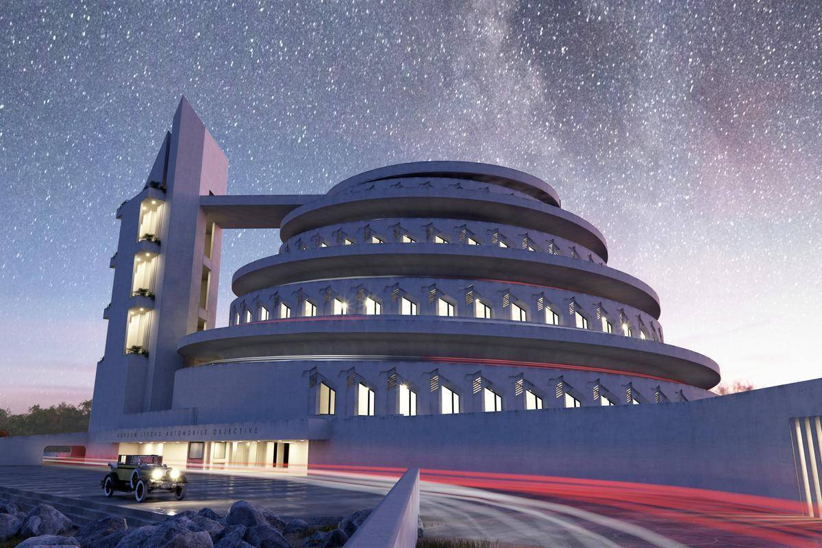 Frank Lloyd Wright - Using RailClone to create his unbuilt masterpieces