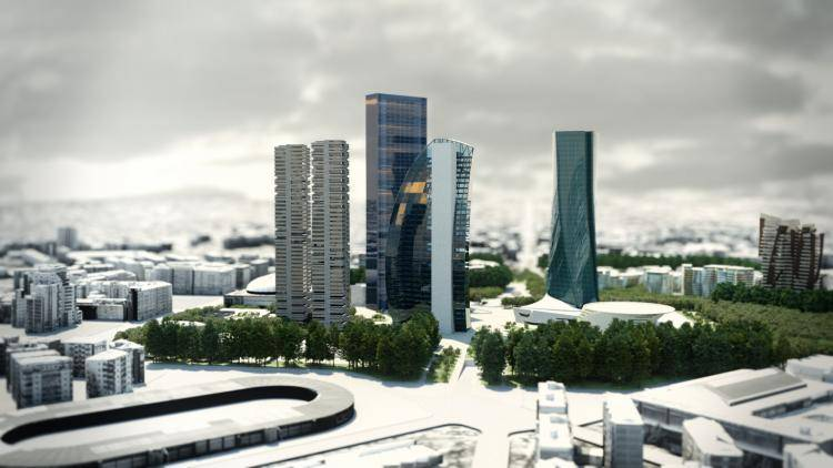 Skyscraper with Thea Render , Forest Pack