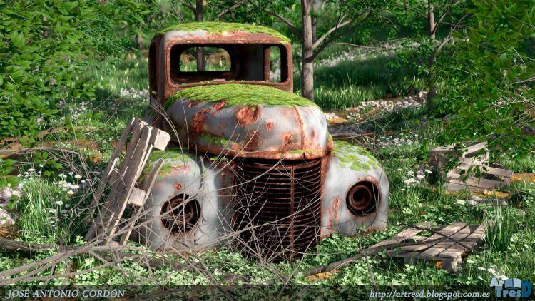 Old Car , Forest Pack