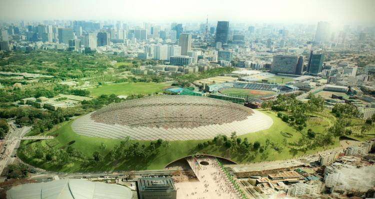 Tokyo Olympic Stadium , Forest Pack