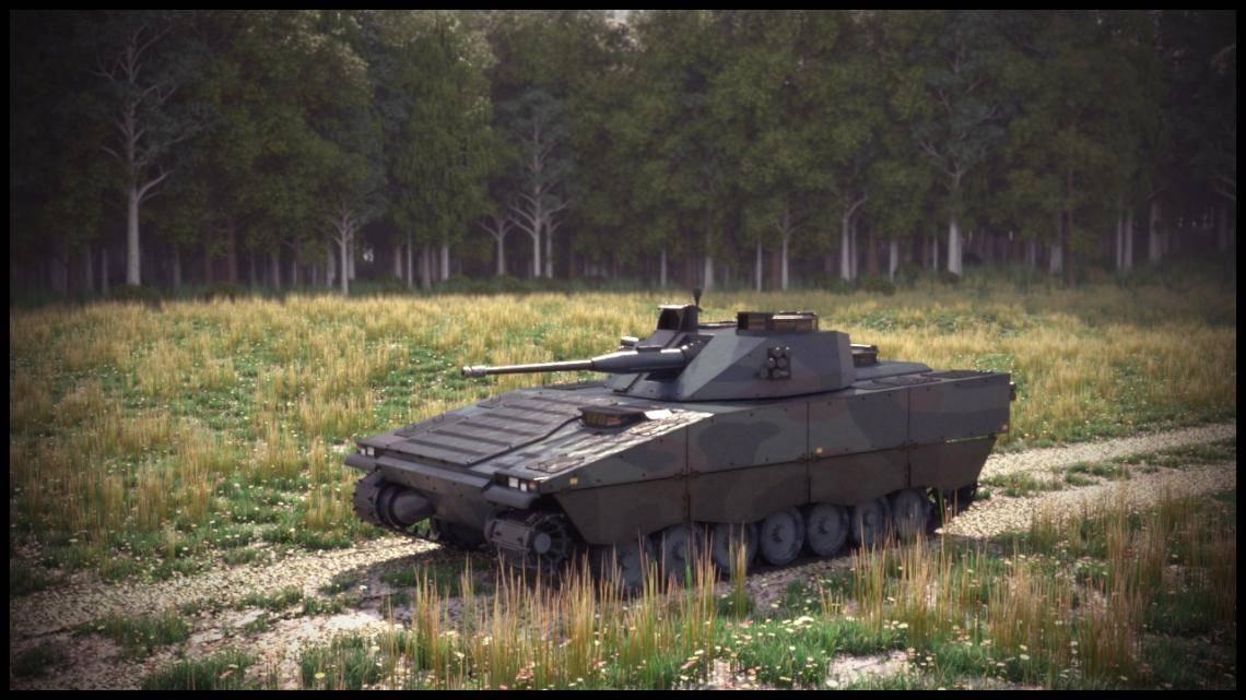 CV90 Tank , Forest Pack