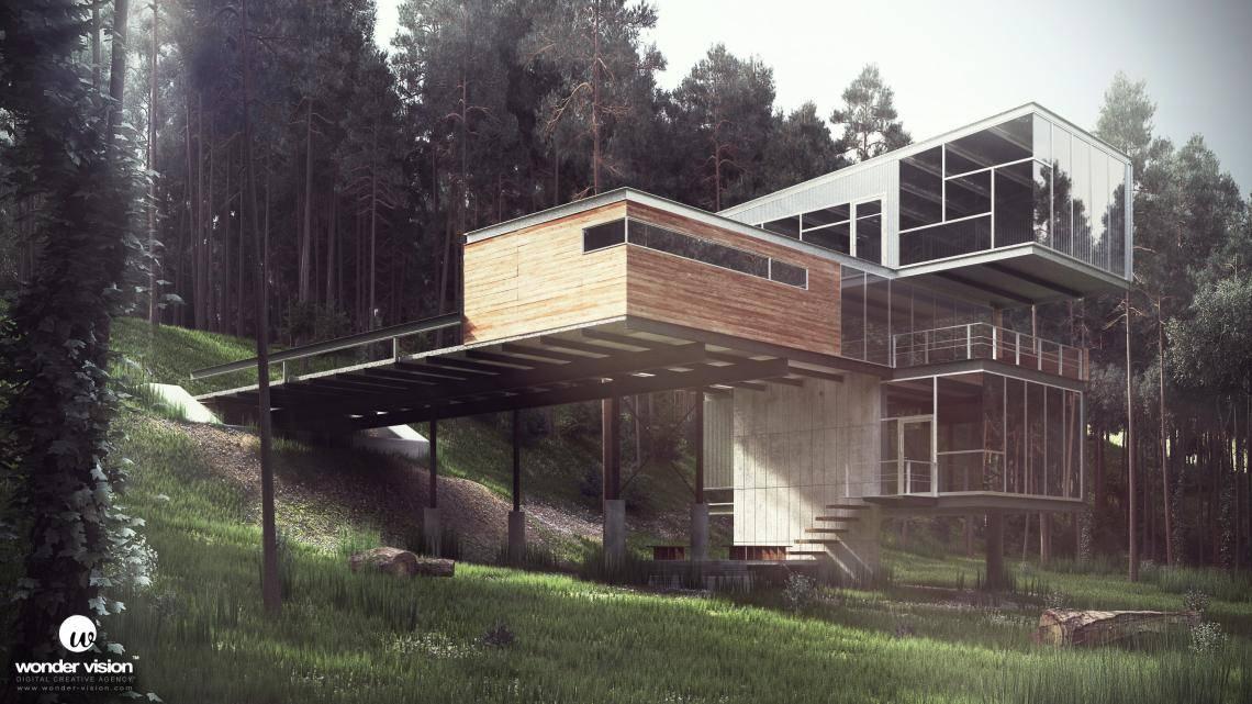 Modern Cabin , Forest Pack