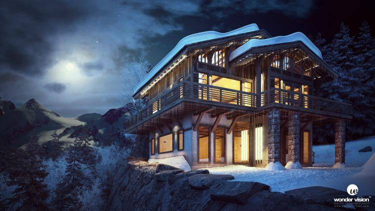 Chalet in the Snow , Forest Pack