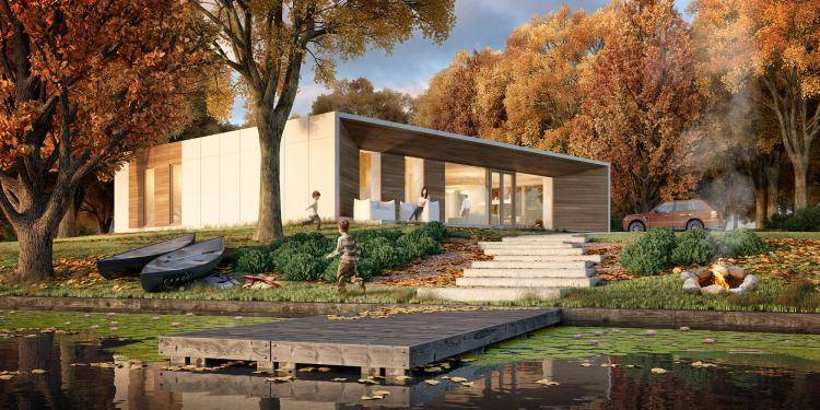 Prefab Passive House , Forest Pack