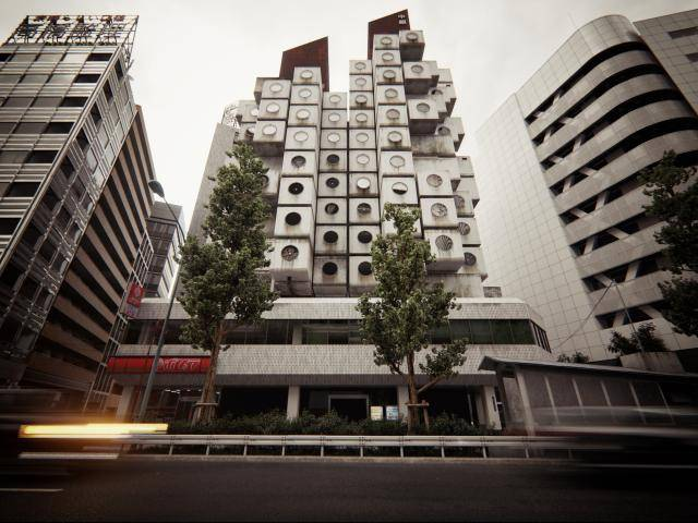 Nakagin Capsule Tower , Forest Pack , Railclone