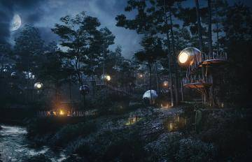 Archviz, Architectural Visualization with Forest Pack