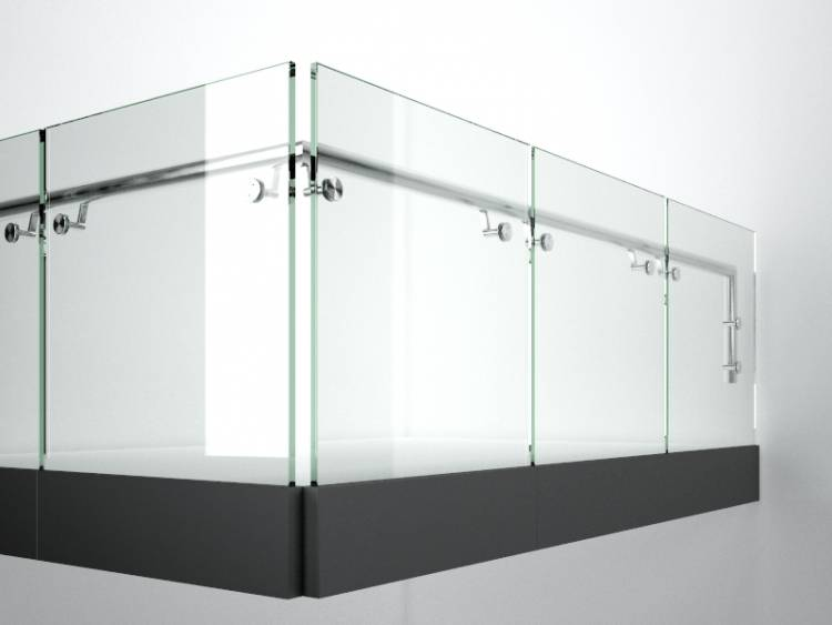 Glass Handrail 7 in Library browser RailClone for 3ds max ...