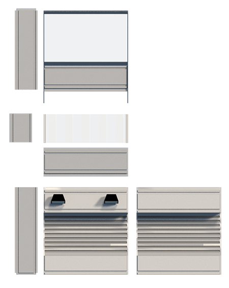 Create a curtain wall building-Components.png