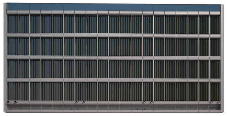 Create a curtain wall building-finished facade.png