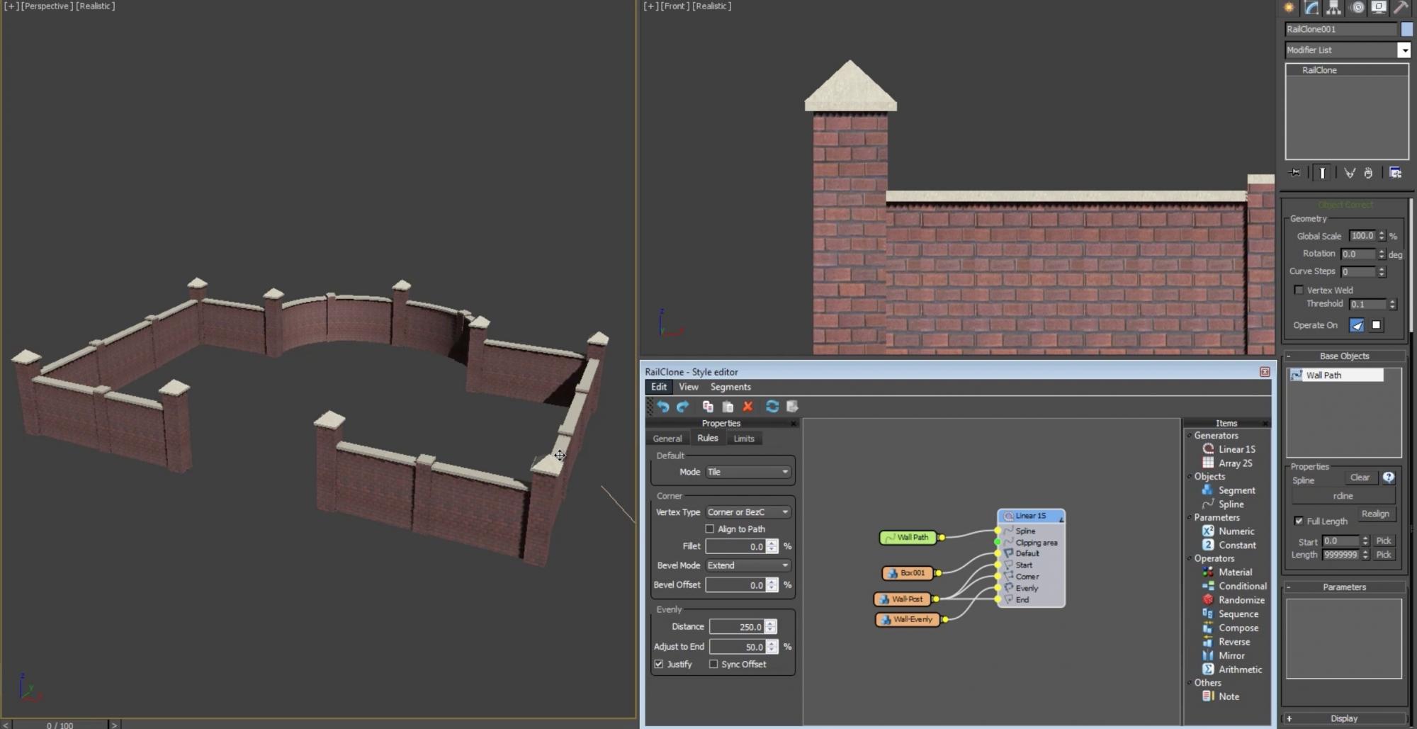 Building a masonry wall