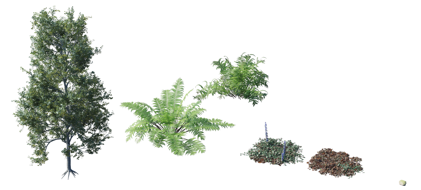 Randomising Procedural Objects-plant objects.png