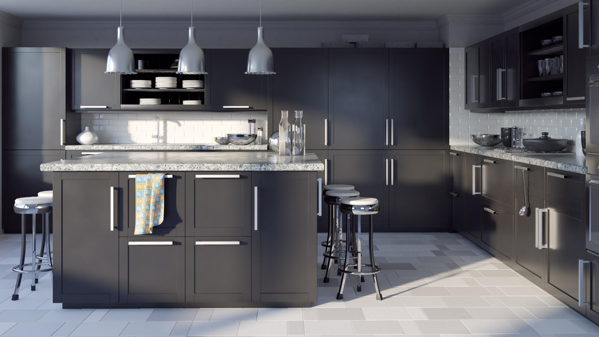 Kitchen Cabinets with RailClone