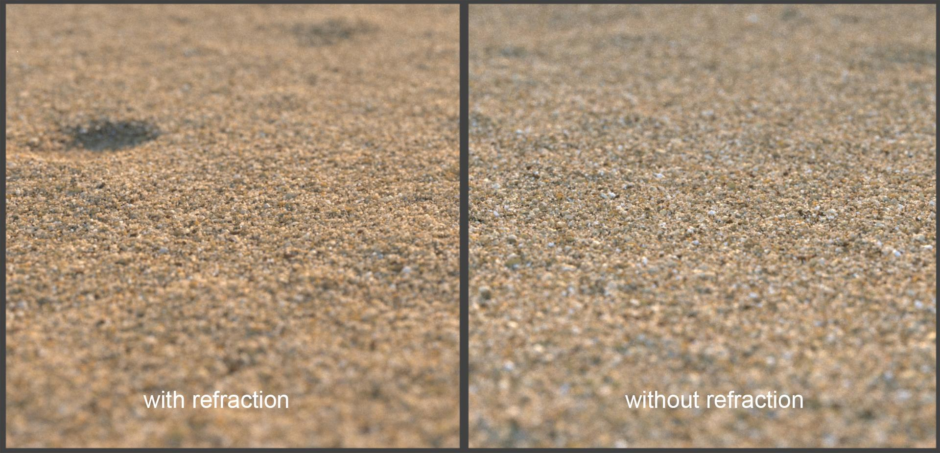 Creating detailed sand with Forest Pack-sand_refraction_compare.jpg