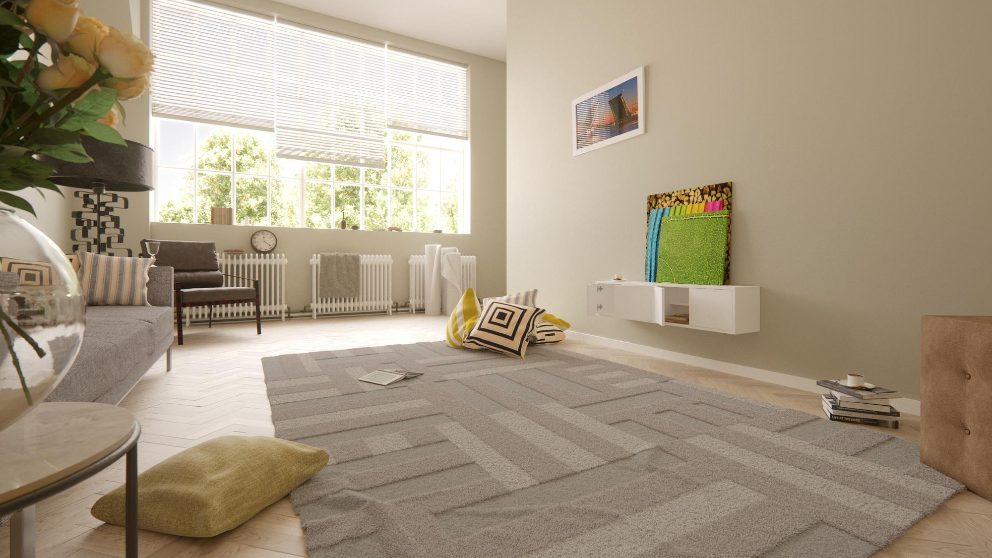 Creating Parquet Floors and Rugs for Interior Visualisations