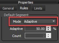 RailClone Gradient Probability - adaptiveMode