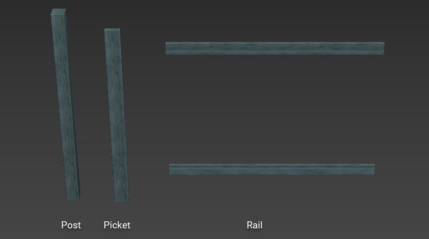 Picket  fence segments
