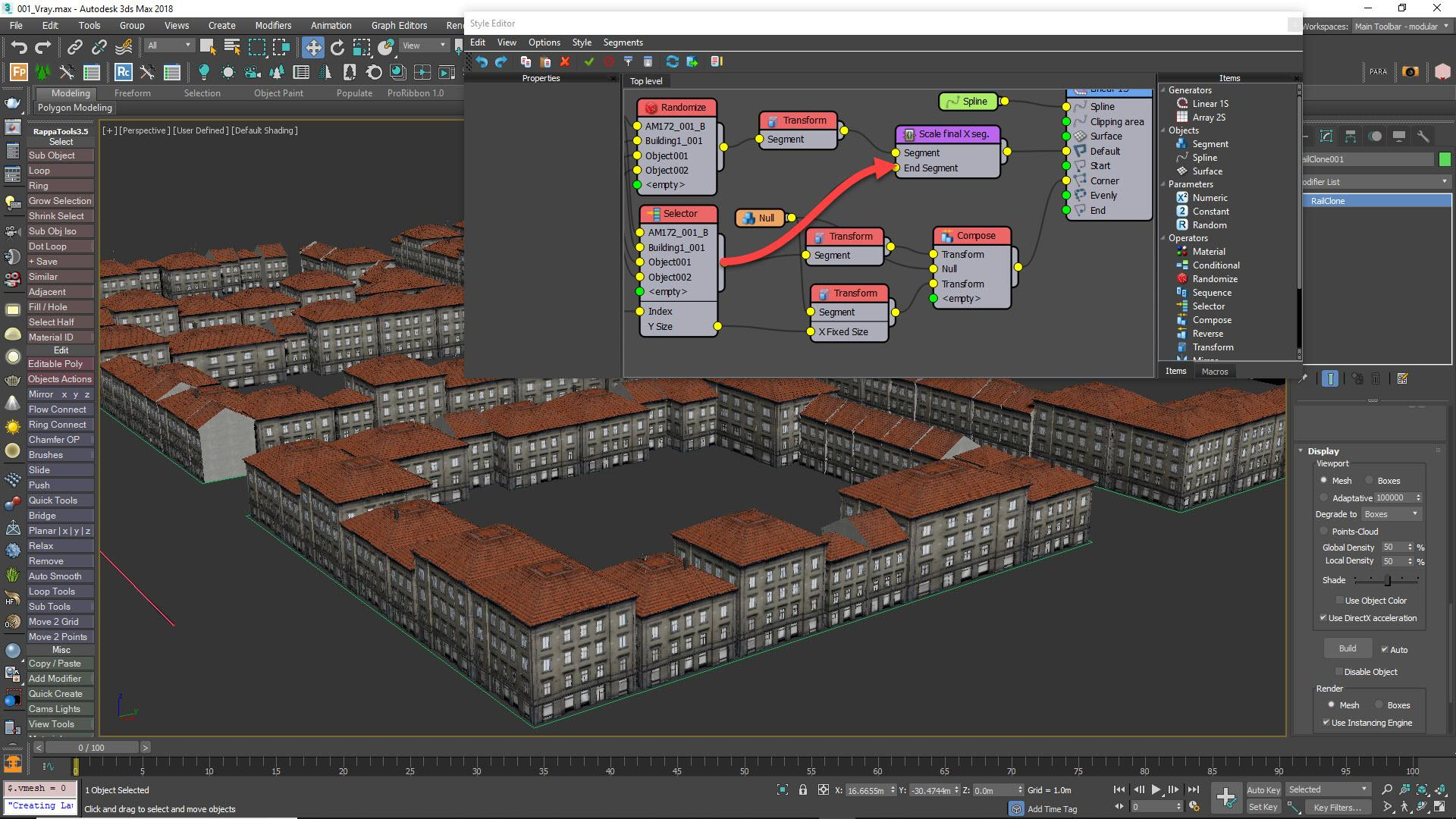 Tutorial - Creating Cityscapes with RailClone in 3ds Max