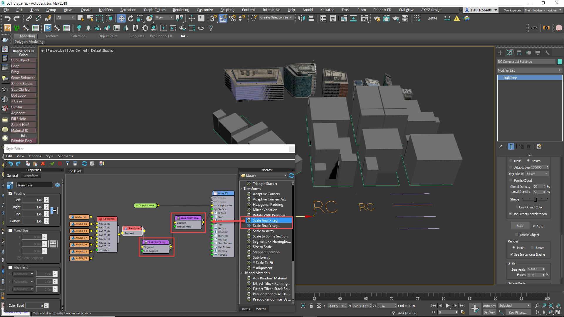 Creating Cityscapes with RailClone in 3ds Max