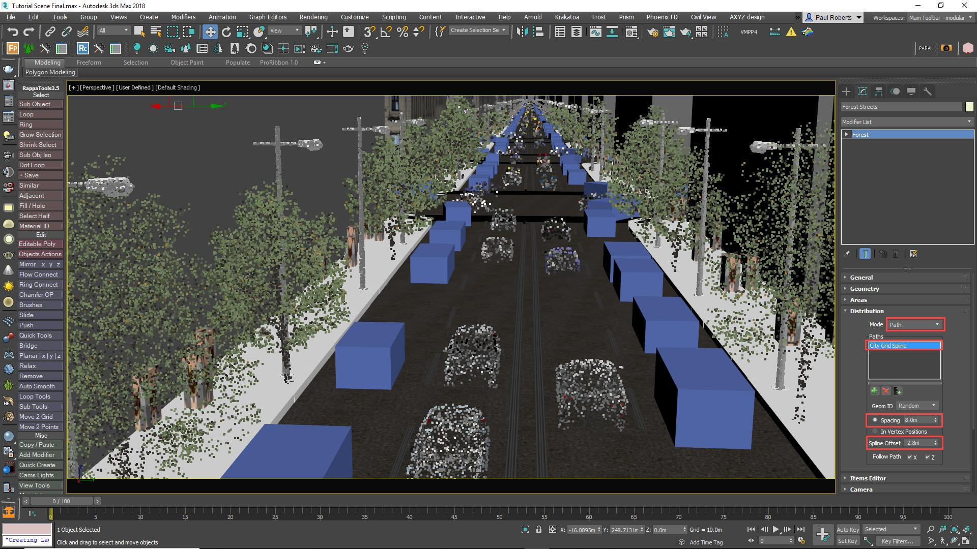 Step 25 -Adding Trees to the Streets