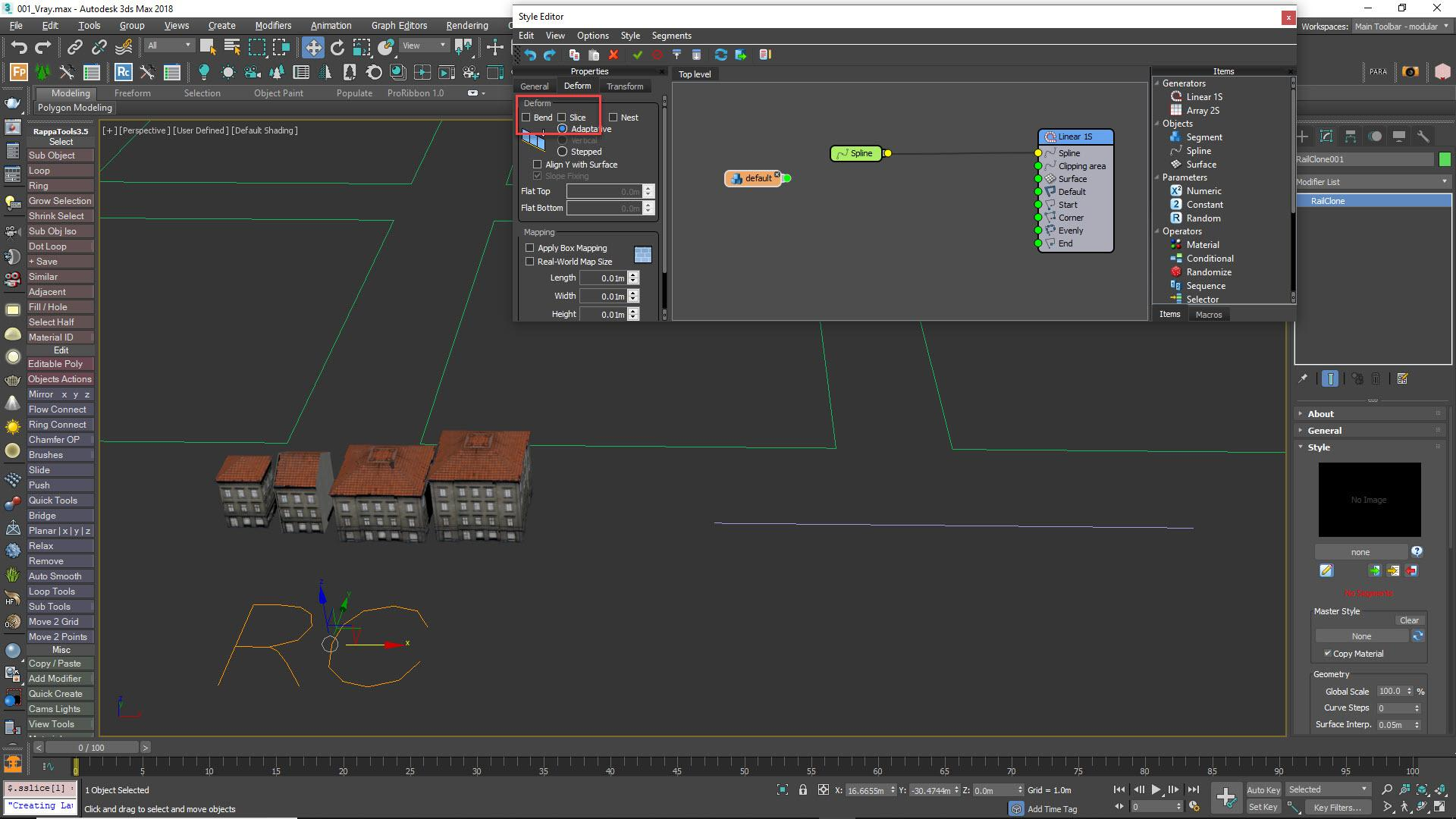 Step 4 - Create a RailClone Object