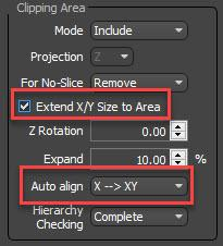 RailClone extend X/Y Size to Area