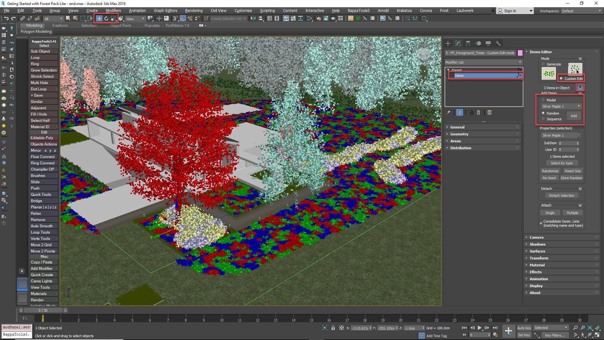 Using Item editor mode