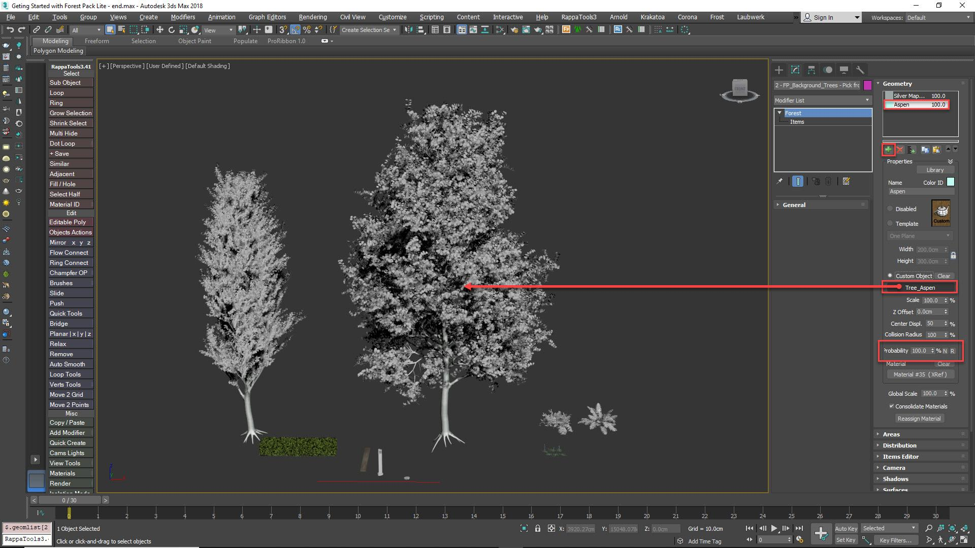 Adding trees manually