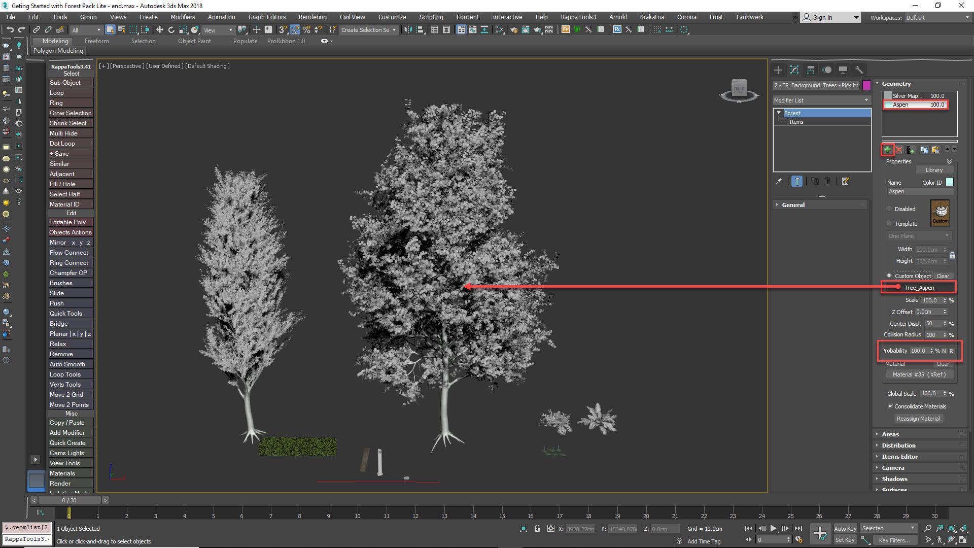 Adding trees manually