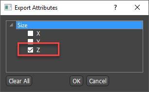 Export attributes