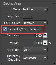 extend X/Y size to area