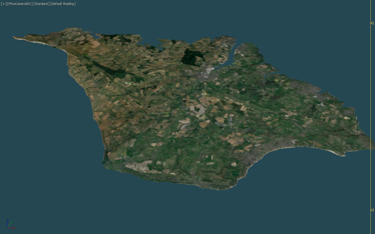 Isle of Wight in 3DS Max